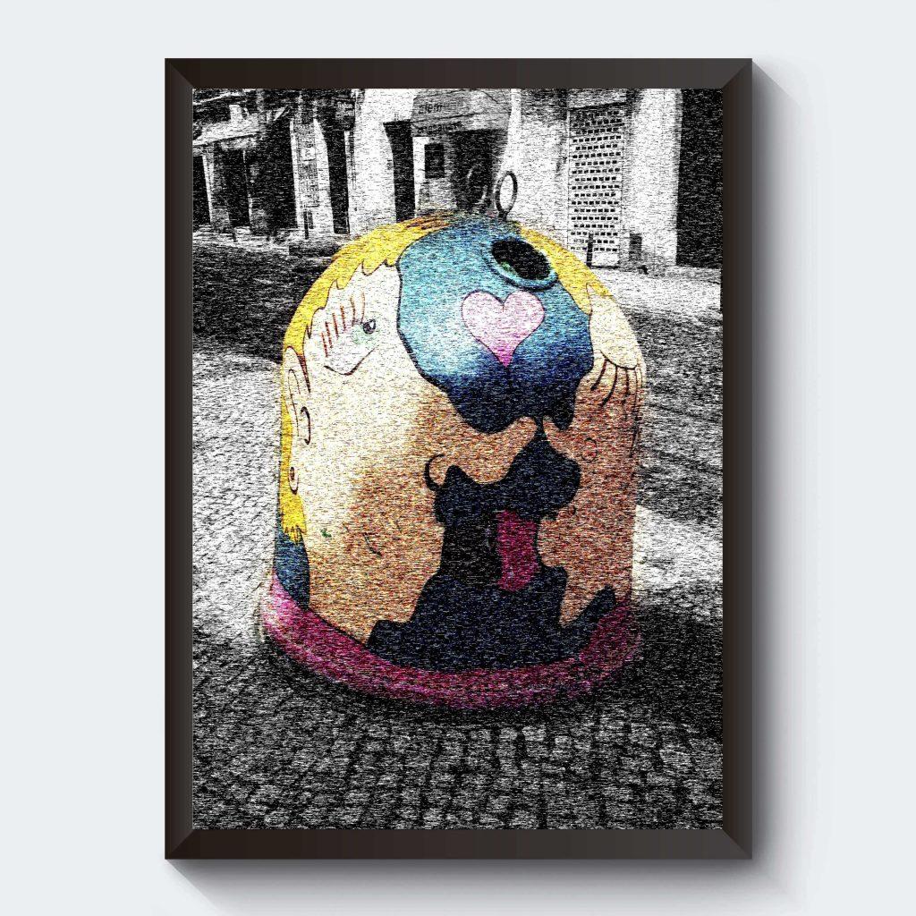Glasinsamling affisch personlig tavla
