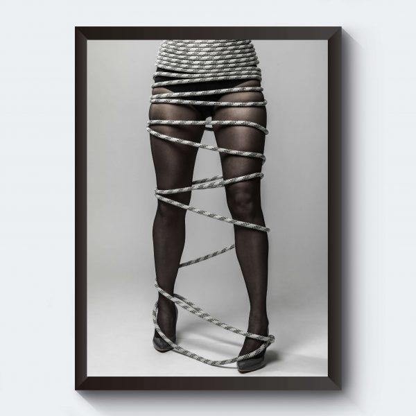 Personlig tavla kvinna i rep