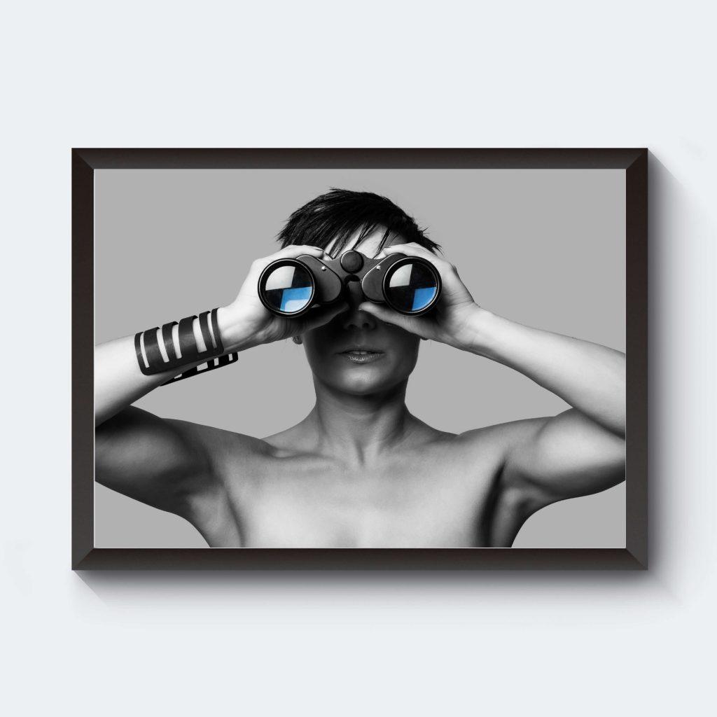 Personlig tavla fotokonst kikare