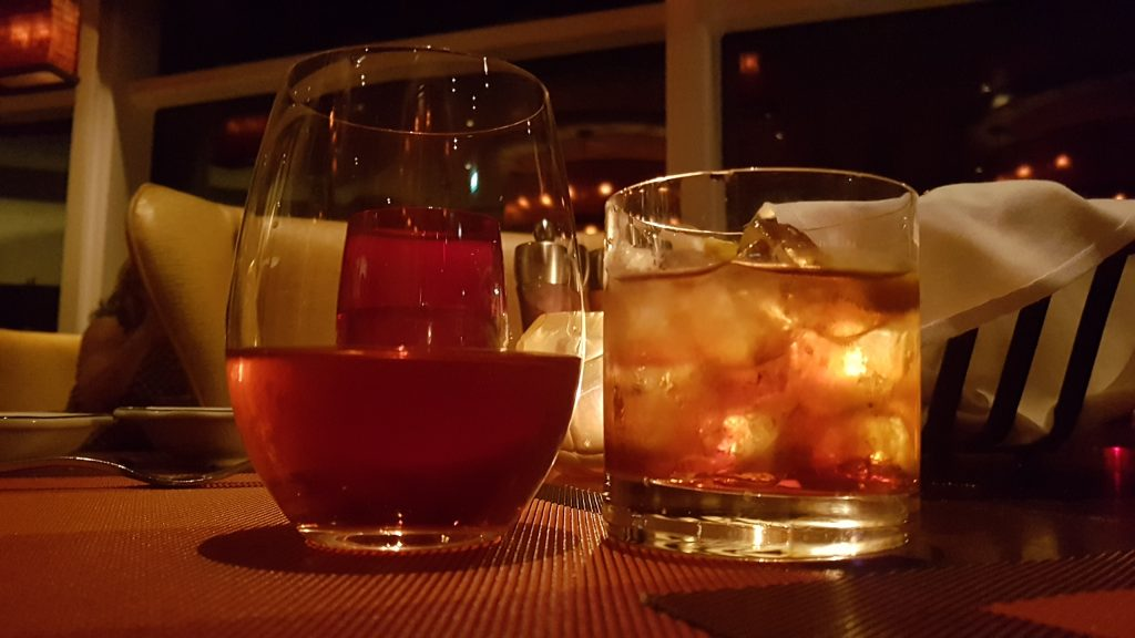 Beringer White Zin and Negroni in Tuscan Grille on Celebrity Eclipse