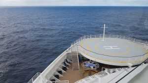 The Atlantic and the bow of Celebrity Eclipse