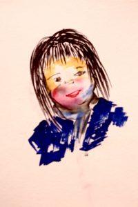 Filzstiftzeichnung von einem Kind
