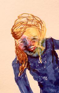 Filzstiftzeichnung, Porträt
