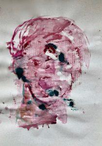 Monotypie auf Papier, 60,5x43cm, 2019