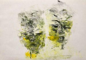 zwei Gesichter einer Person