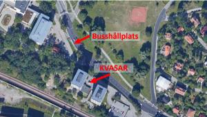 Karta till Kvasar Makerspace