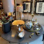 sølvramme, sofabord, lampe