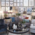 Sofabord, glasplade, rund, lænestol