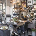 spisebord,interieur,interiør,grå lampe,skærm,standerlampe
