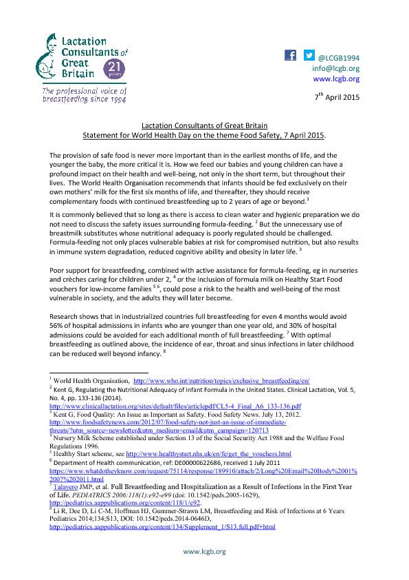 LCGB World Health Day Statement April 15 pdf0
