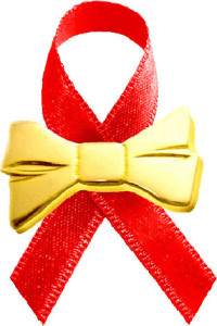 WABA Aids Day 2016 Red Ribbon Gold Bow