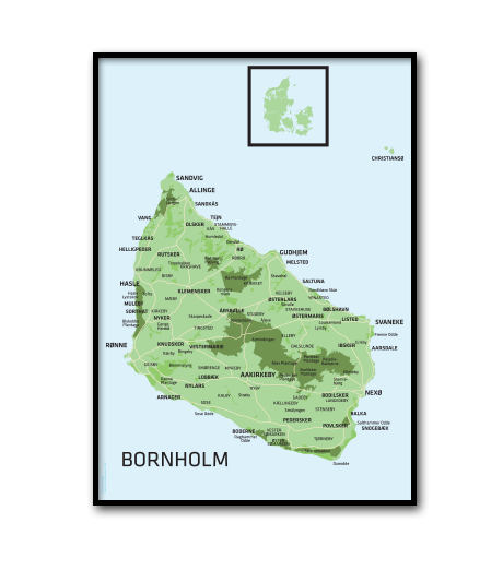 Adobe Illustrator | Bornholm kort