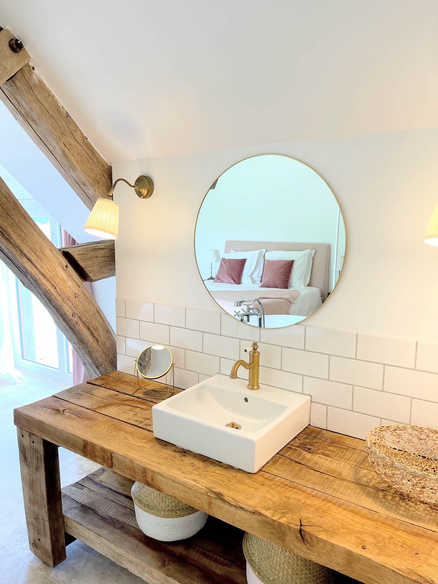 La salle de bain de la suite des mariés