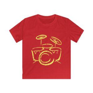 Kids Casual Drum T-shirt
