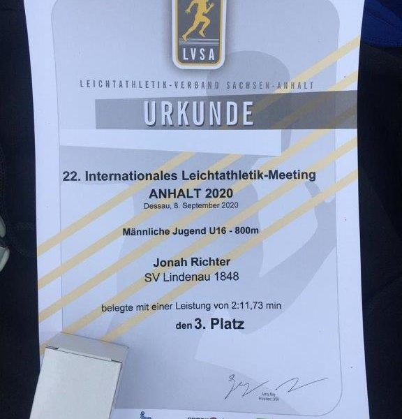 "Internationales Leichtathletik Meeting ""Anhalt 2020"" in Dessau"