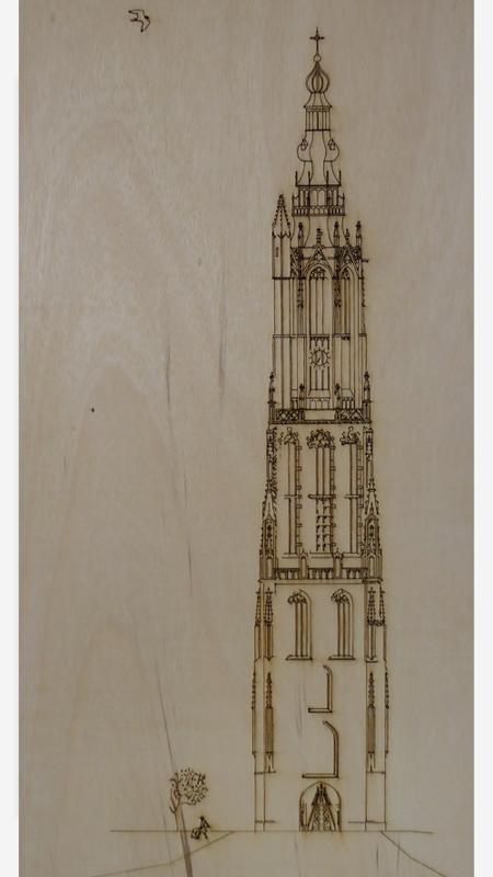 Toren op hout Kado