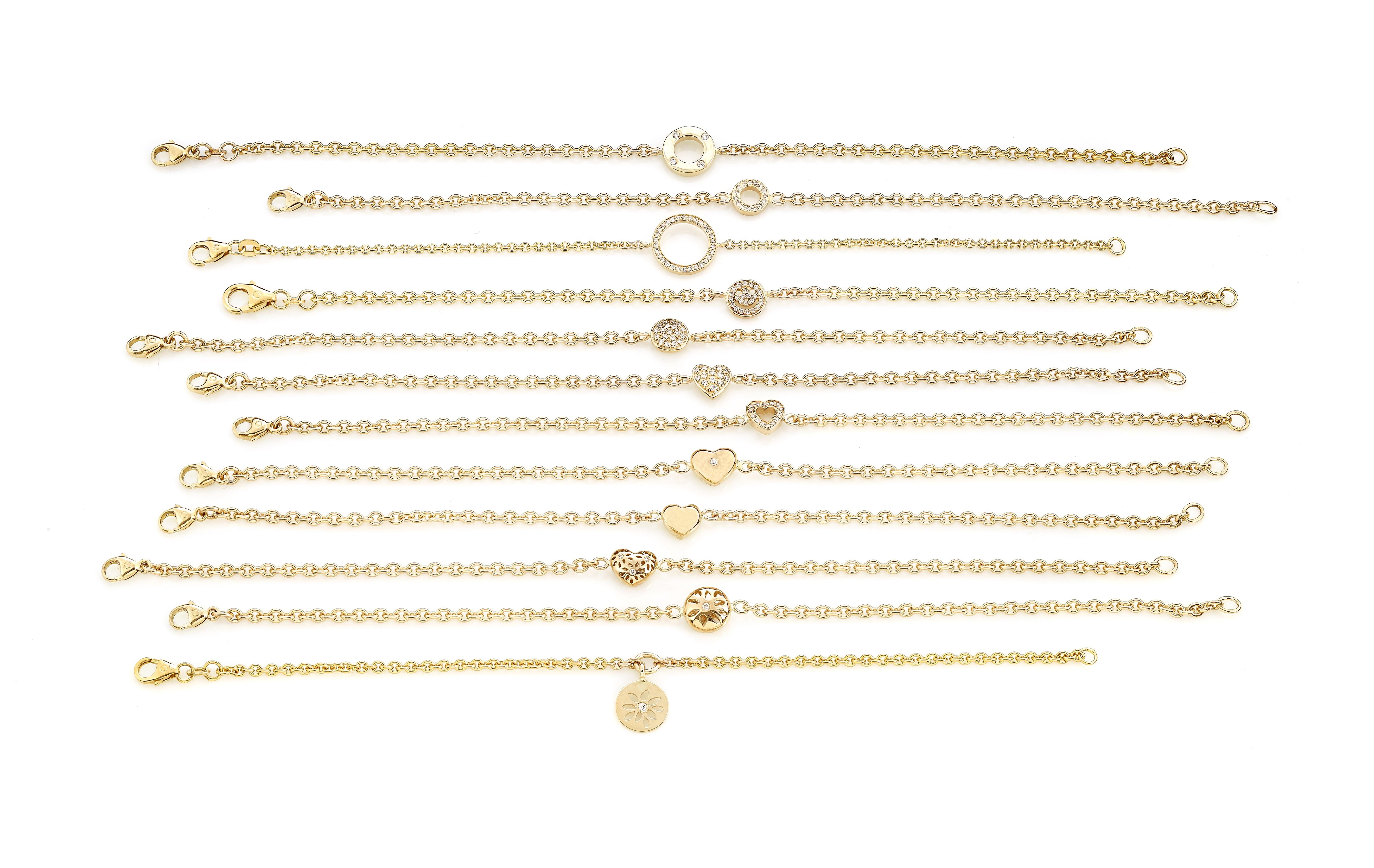 Diverse guldarmbånd