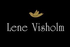 Lene Visholm logo negativ