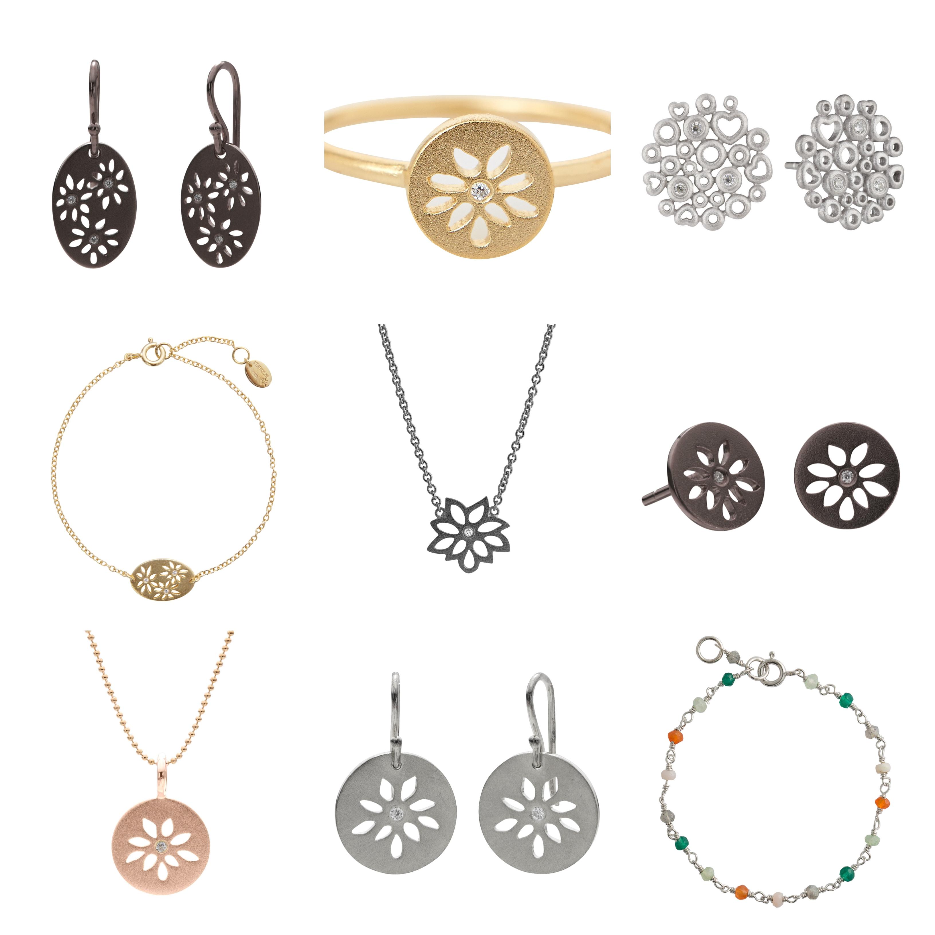 Lene Visholm packshots - alle sølvsmykker