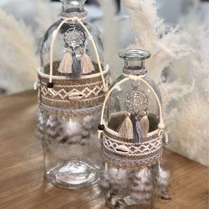 Vase bouteille bohème