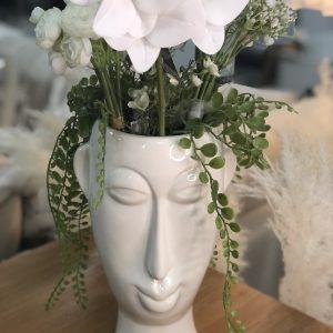 Pot de fleurs visage