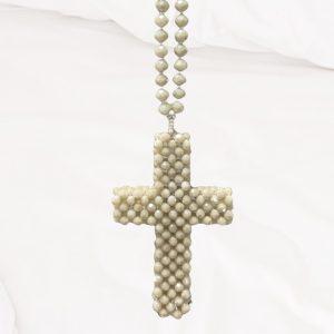 Collier croix strass