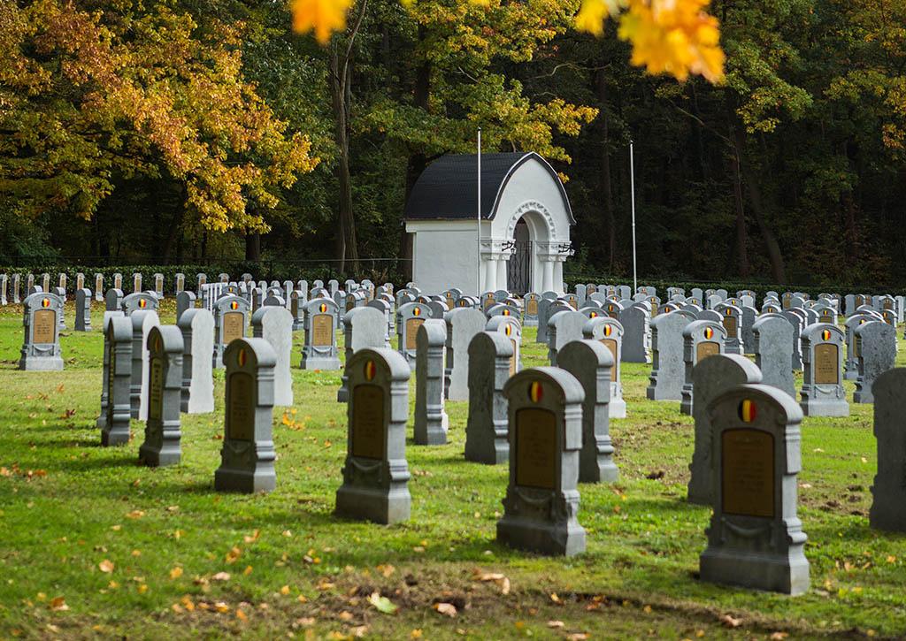 De Belgische militaire begraafplaats in Leopoldsburg