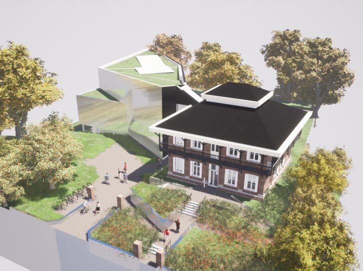 Visualisatie van de nieuwbouw - voorzijde
