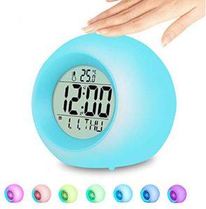 Kindertagesgeschenk Lichtwecker f/ür Kinder Blau HOSPAOP Nachtlicht Wecker Kinder Kinderwecker Wake Up Nachttischlampe Snooze-Funktion M/ädchen