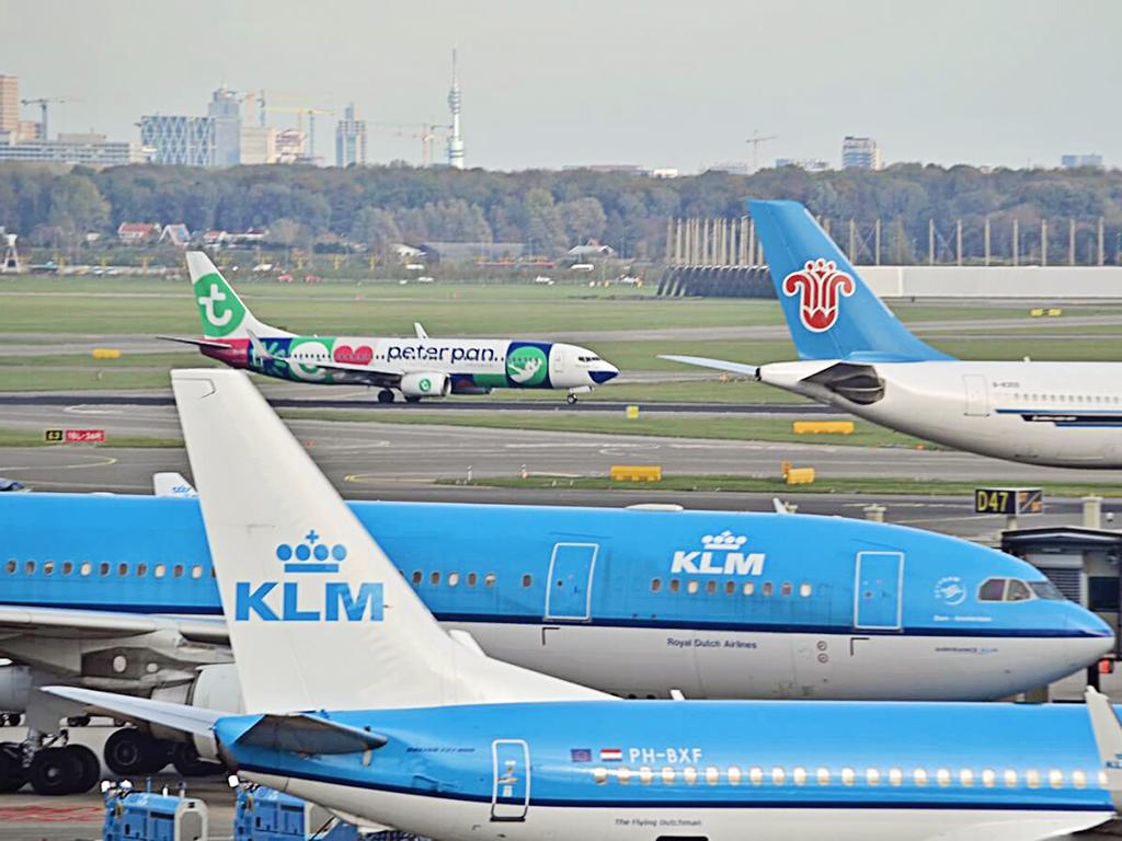 Schiphol-vliegtuigen