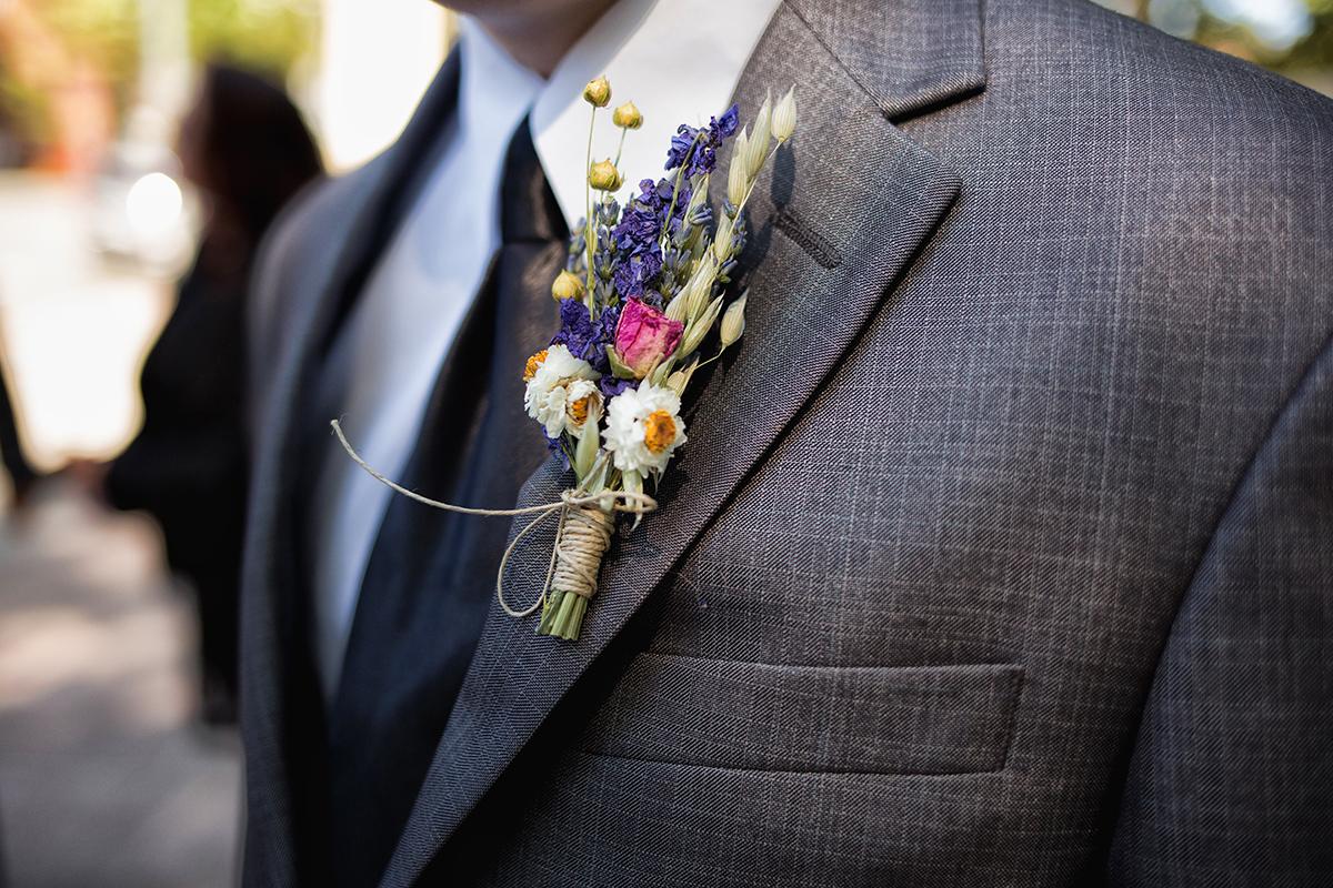 Blomst i jakke bryllup