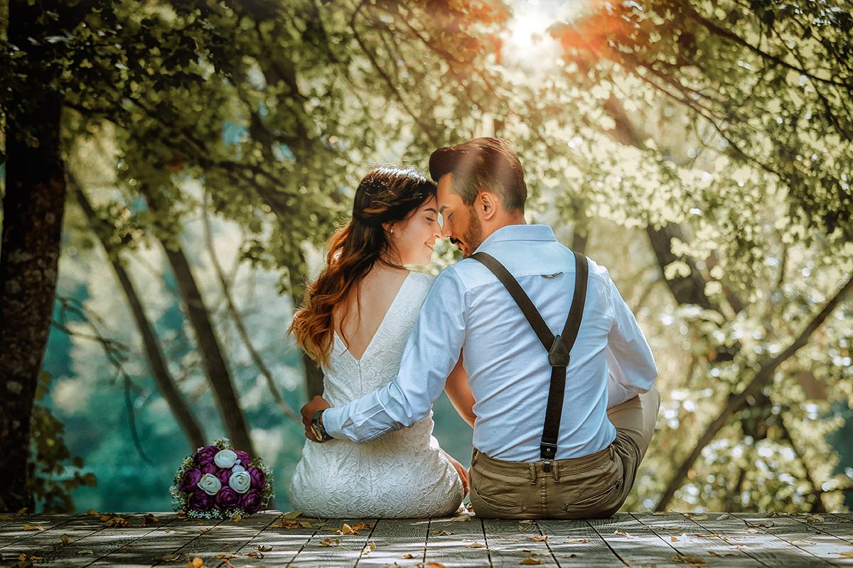 Brud og brudgom før bryllup