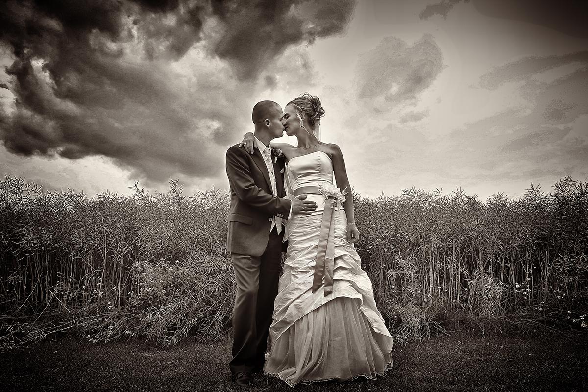 Brud og gom bryllupsfotografi