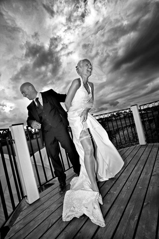 Brudepar bryllupsbillede