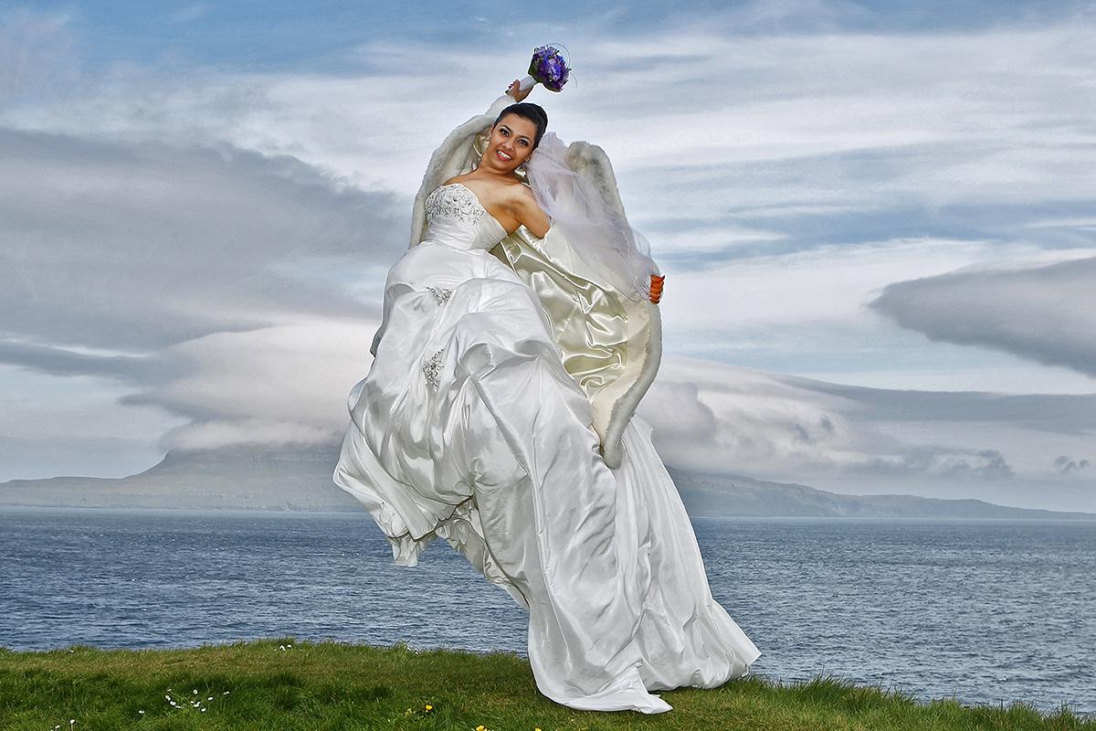 Bryllupsfoto af bruden