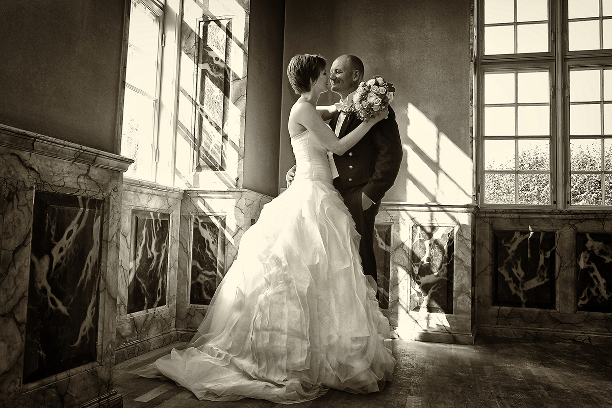 Bryllupsfoto mand og kvinde