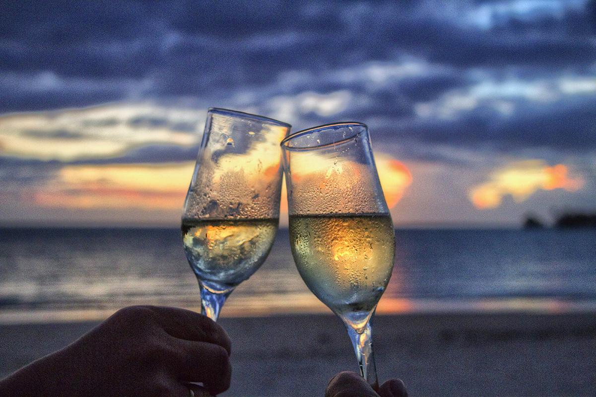 Champagneglas der skåles