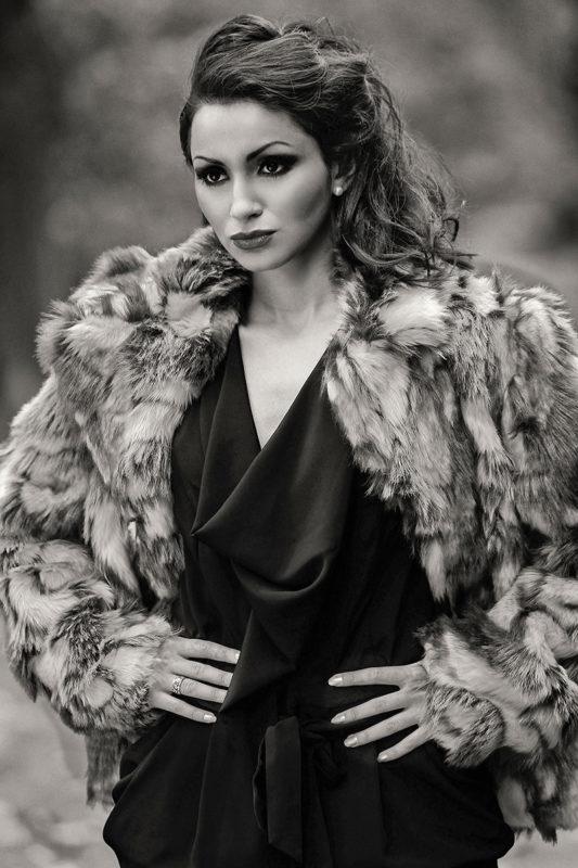 Kvinde med pels