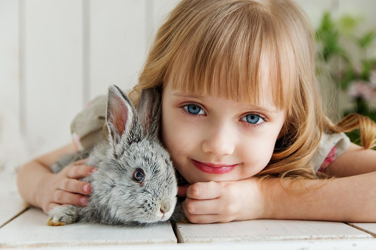Lille pige og kanin