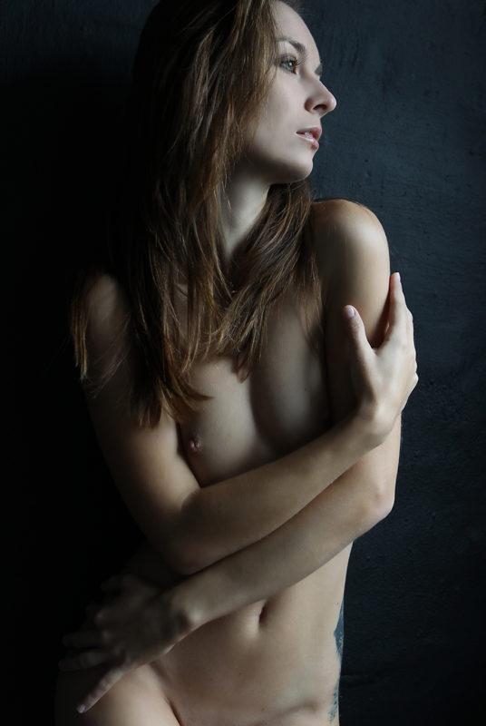 Nøgen kvinde boudoir