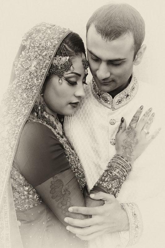 Pakistansk bryllup brudepar