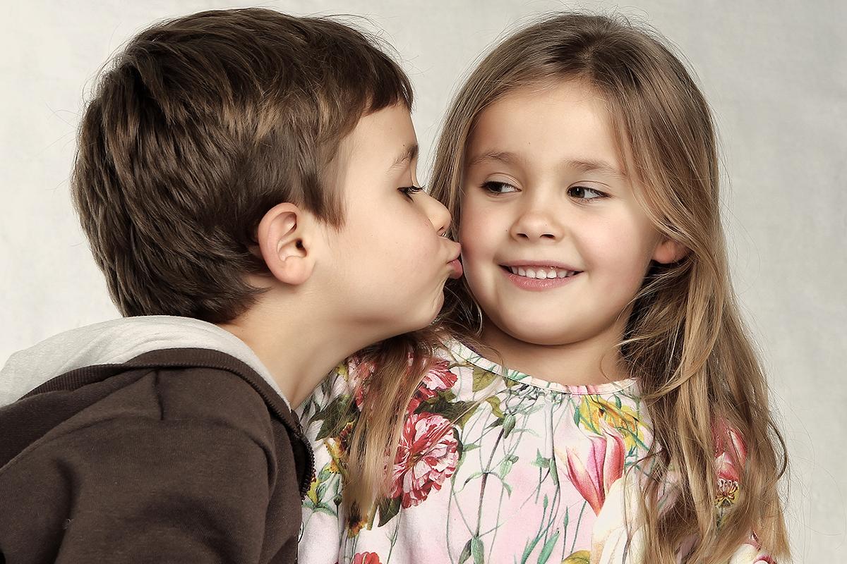 Portrætbillede af søskende