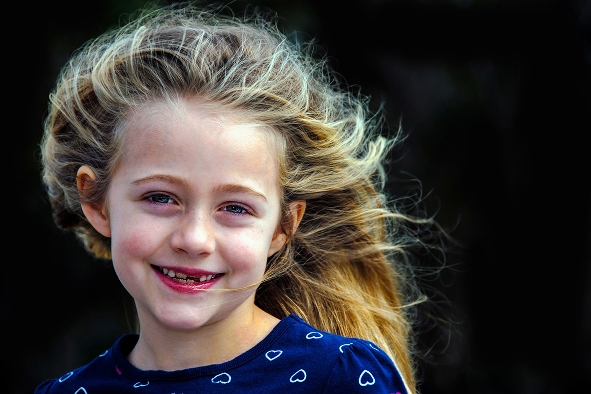 Portrætfoto af barn
