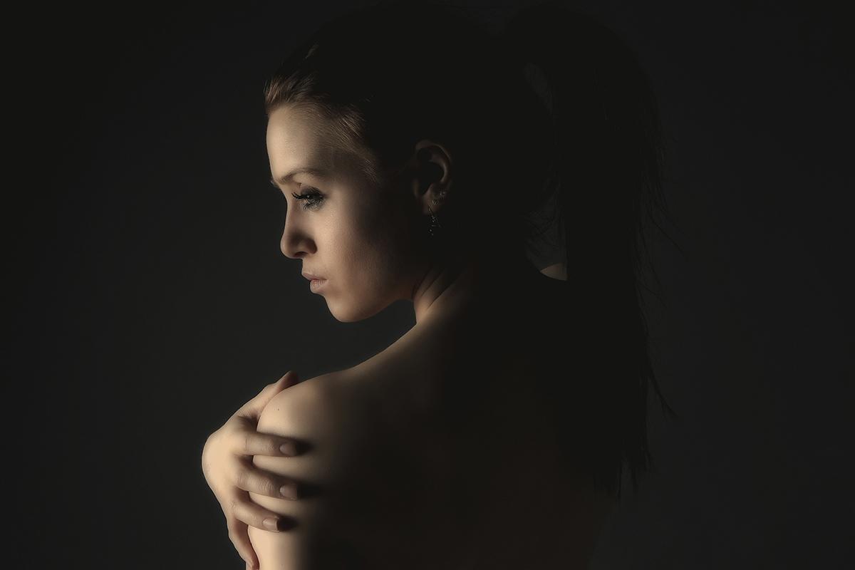 Sensuelt billede af nøgen kvinde