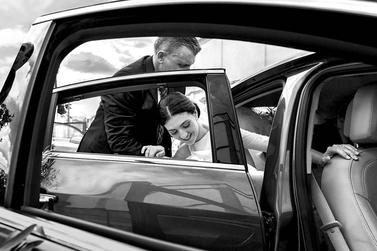 Sort hvid bryllupsbillede
