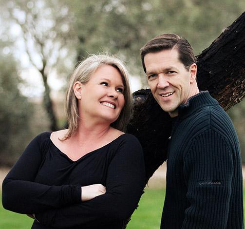 Portrætbillede af mand og kvinde