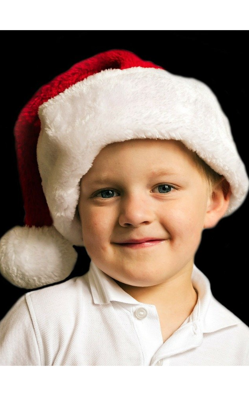 Julefotografering af dreng