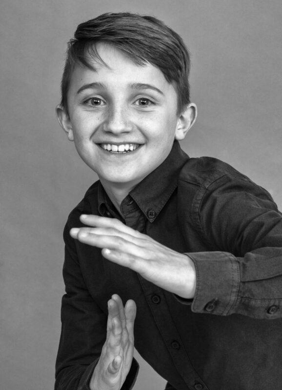 Fjollebillede af dreng der dyrker karate