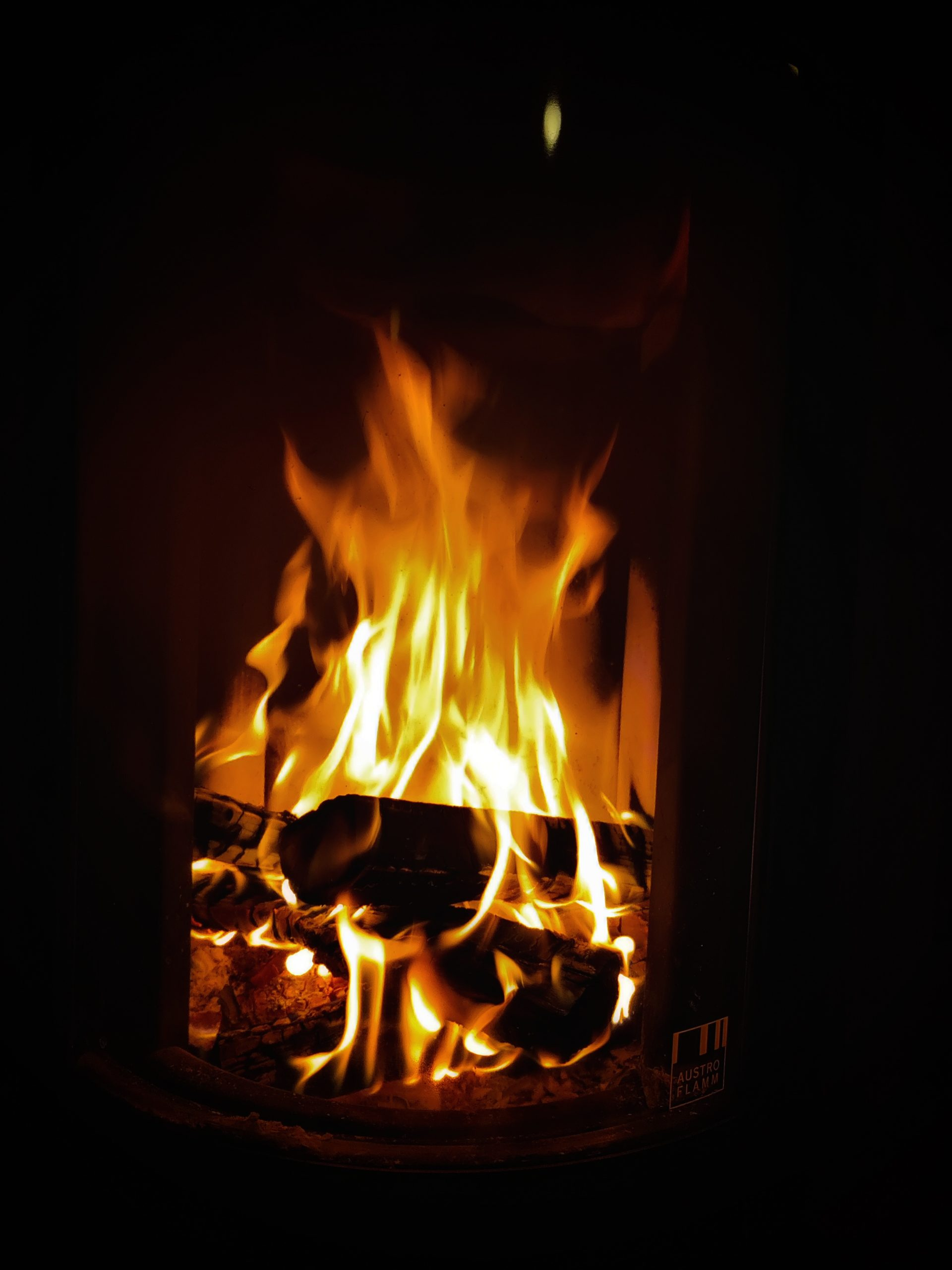 Fire in my fireplace