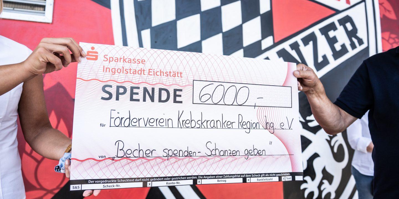 Becher spenden - Schanzen geben: eine Kooperation von SchanzenGeber, Siftl und Büchl